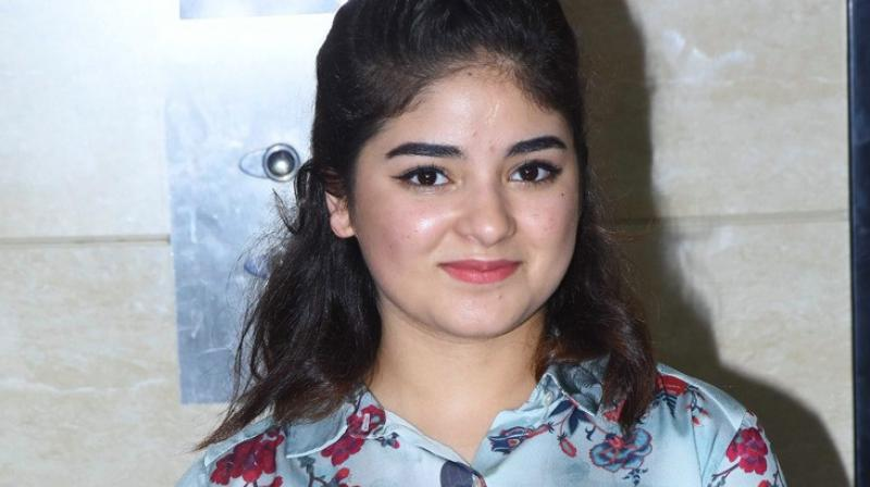Right after deboarding the flight, Zaira Wasim took to Instagram to narrate her experience in a live video.