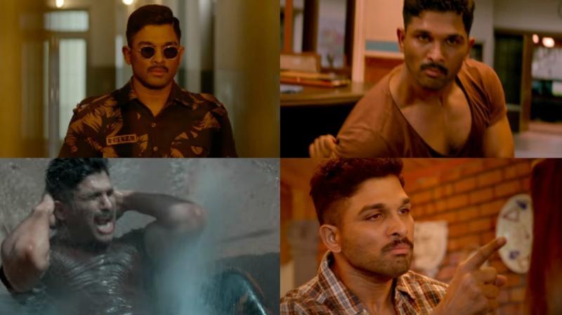 Screengrabs from 'Naa Peru Surya' teaser.