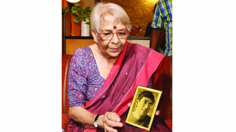 Nirmala Banerjee, mother of economist Abhijit Banerjee, in Kolkata on Monday. (Photo: AFP)