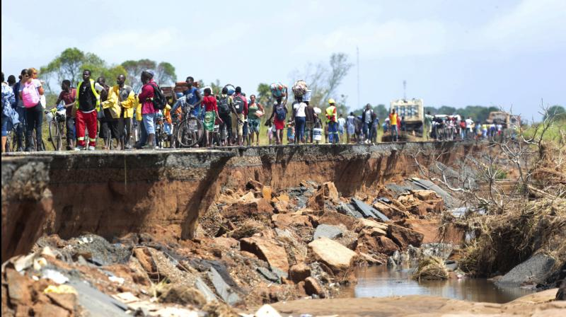 Cyclone Idai smashed into the coast of central Mozambique on Friday last week. (Photo:AP)