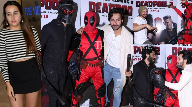 A screening of the Hollywood film 'Deadpool 2' was held in Mumbai late Thursday where several celebrities turned up. (Photo: Viral Bhayani)