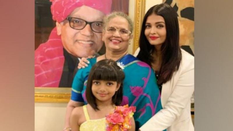 Aishwarya Rai Bachchan and family.