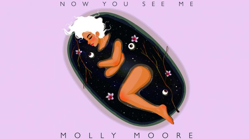 Amazing art: Hanisha's work on indie music artist Molly Moore's album cover EP Now You See Me.