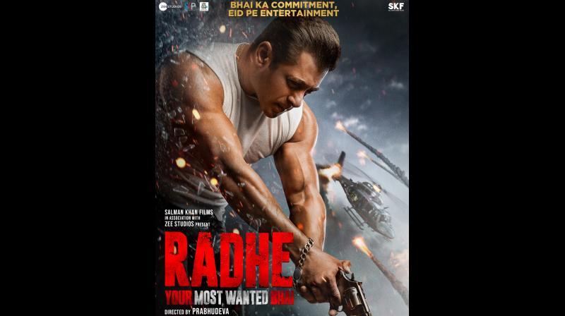 Salman Khan-starrer Radhe movie's poster. (Photo: Instagram/beingsalmankhan)