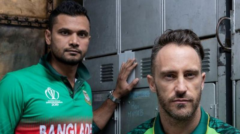 South Africa restricted England on 311/8 in their opening World Cup encounter, but the Proteas lost the match by 104 runs as the English bowlers rattled the middle-order of South Africa. (Photo: ICC/twitter)