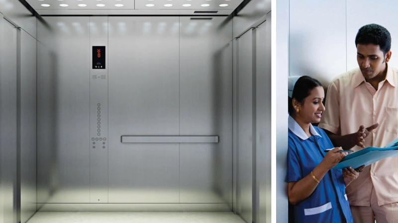 KONE 24x7 Connected Services uses sensors to collect and log data to a cloud-based programme that alerts its technicians. This would ensure uninterrupted flow of movement of medical staff, patients, and families at medical facilities. (Photos | Kone)