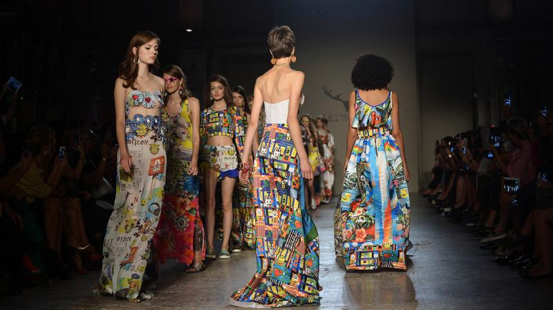 Milano Digital Fashion Week from July 14-17 will include photo and video content, backstage interviews with designers, as well as webinars and live streaming of keynote speeches. (Photo   AFP)