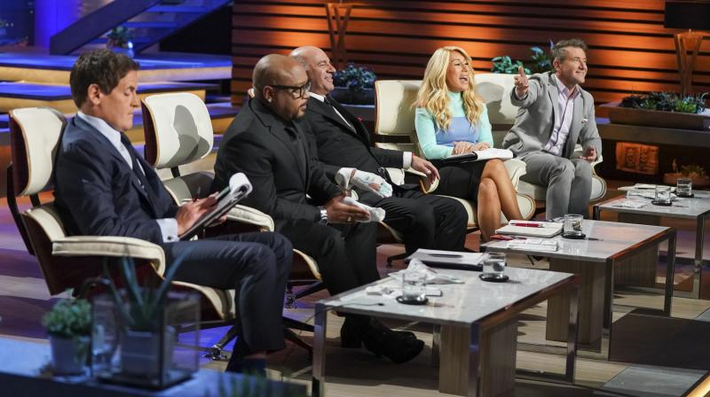 Some of the 'sharks' on the Shark Tank show, who listen to entrepreneurs' pitches and pick businesses to invest in.