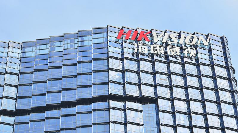 """""""As the People's Republic of China attempts to blur the lines between civil and military sectors, 'knowing your supplier' is critical,"""" said Pentagon spokesman Jonathan Rath Hoffman. In this picture, Hikvision's office in Hangzhou, China. (Photo 