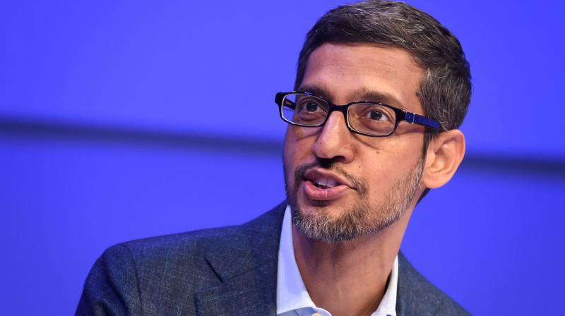 Sundar Pichai is CEO of Alphabet, whose profit slumped 30 percent to $6.96 billion from a year back. The online giant relies on digital advertising for most of its income. (Photo | AFP)