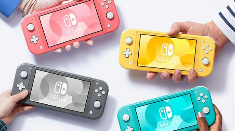 Nintendo Switch sales, both of the handheld machines and software games, were zooming amid the pandemic. The various online games in its lineup, including those for mobile devices, were also drawing more people. (Photo of Nintendo Switch Lite | Nintendo.com)