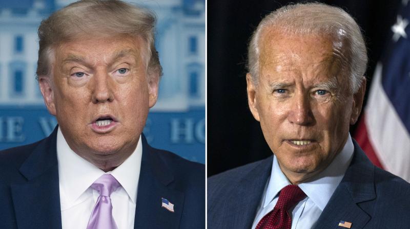 Democratic presidential candidate Joe Biden (right) and US President Donald Trump. (AP)