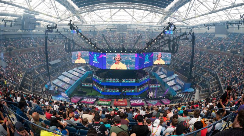 Epic also encouraged players to express their displeasure with Apple on Twitter using the #FreeFortnite hashtag. Seen here the start of the 2019 Fortnite World Cup Finals - Round Two on July 27, 2019. (Photo | AFP)