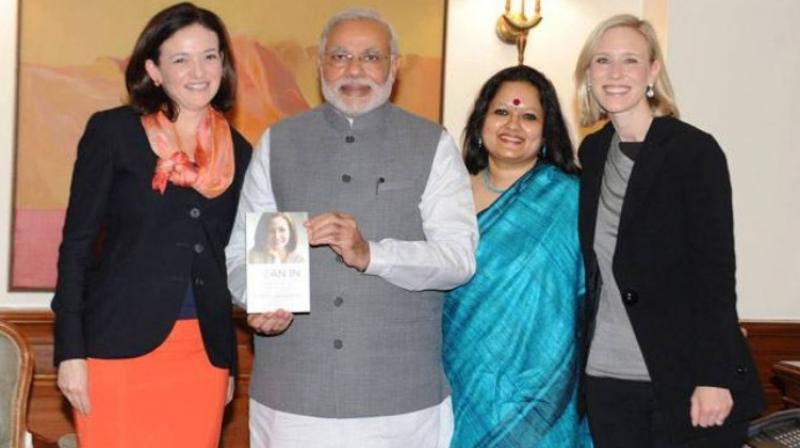 """""""Facebook should not be complicit in more offline violence, much less another genocide (referring to charges of spurring Myanmar's systematic killing of Rohingya people), but the pattern of inaction displayed by the company is reckless to the point of complicity,"""" the letter stated. This photograph shows Facebook India Policy Chief Ankhi Das posing with Prime Minister Narendra Modi. (Photo 