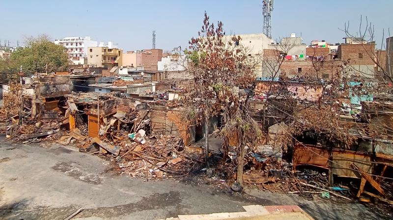 """The failure of Facebook to appear before the committee shows that it is trying to hide its role in the Delhi riots,"" Aam Aadmi Party's Raghav Chadha told reporters. This photograph shows a riot affected area in Northeast Delhi as on March 8, 2020 (Photo 