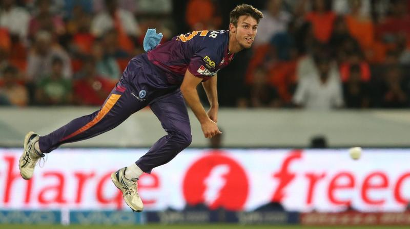 Hyderabad Sunrisers' Mitchell Marsh was bowling his first over against Royal Challengers Bangalore on Monday, September 21 when he suffered the injury. (File Photo | iplt20.com)