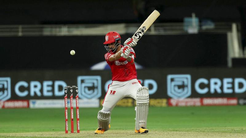 Kings XI Punjab Captain KL Rahul scored 132 off 69 balls, that was laced with 14 boundaries and seven sixes. (Photo | PTI)