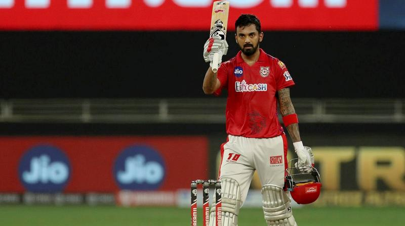 KXIP skipper KL Rahul's 132, off just 69 deliveries, is the highest score built up by an Indian player in an IPL innings. (Photo | PTI)