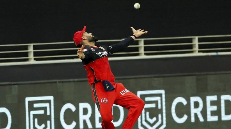 After dropping two catches, RCB skipper Virat Kohli, undoubtedly one of the best when it comes to run-chasing, failed with the bat, managing just a run off five balls before he was caught off a Sheldon Cottrell delivery. (Photo | PTI)