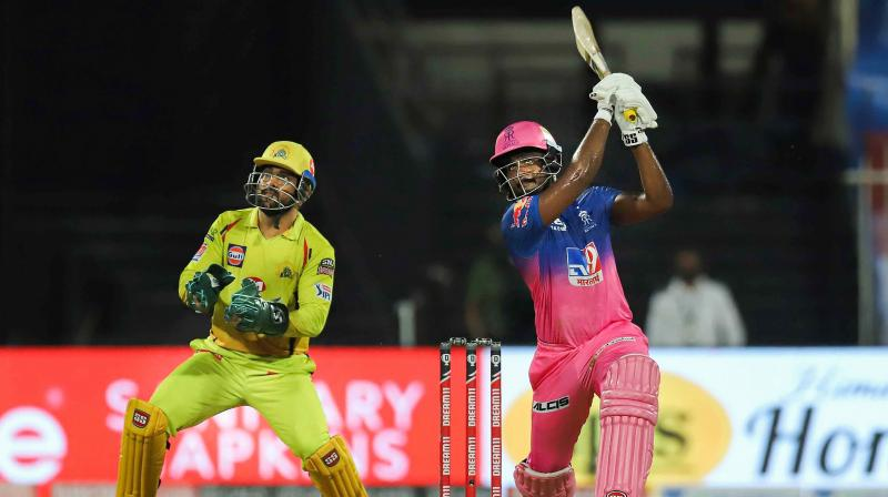 """""""He is that good. He is an absolute champion he is got all the shots, quality, and class,"""" Shane Warne said about Sanju Samson. (Photo 