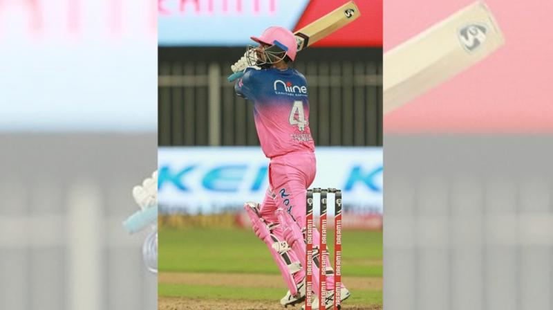 """IPL throws up unlikely stars and Sunday was a """"day of Rahuls"""" when the lesser known Tewatia from Haryana's Sihi village in Faridabad district stole the thunder from the uber cool India star KL Rahul, striking five sixes in an over from Sheldon Cottrell that changed the course of RR's match against Kings XI Punjab. (Photo 