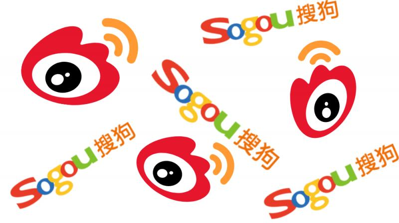 Sogou's announcement comes a day after Chinese internet giant Sina Corp—which owns the country's massive Twitter-like Weibo—said it would go private as well. (Photo | Weibo and Sogou icons)