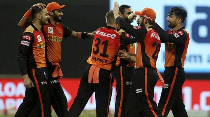 Put in to bat, Bairstow (53 off 48) scored his second fifty of the tournament, while David Warner (45 off 33) and Kane Williamson (41 off 26) also came up with valuable contributions, helping Sunrisers Hyderabad post a competitive 162 for four. Defending the total, leg-spinner Rashid (3/14) returned with three crucial wickets, while Bhuvneshwar Kumar (2/25) scalped two and T Natarajan and Khaleel Ahmed (1/43) claimed too chipped in to restrict Delhi to 147 for 7 in 2 for a deserving win. (Photo | PTI)
