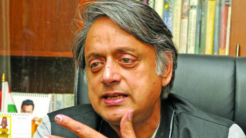 In October 2018, Tharoor had stoked a controversy by invoking a news article where an unnamed RSS leader had compared Prime Minister Narendra Modi to a 'scorpion sitting on a Shivling'. (Photo: File)