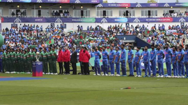 Before the match began – that is during the national anthem – the Indian and Bangladeshi crowd stood together and lauded Tagore for creating such heart-touching anthem. Even the netizens took to social media and recalled Tagore for penning down Jana Gana Mana and Amar Sonar Bangla. (Photo:AP)