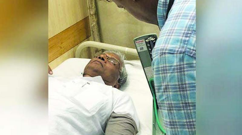 Shrimant Patil in the hospital.