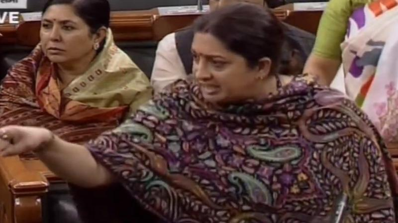 Irani said it was unfortunate that incidents of rape and killing of women are being communalised and politicised. (Photo: ANI)