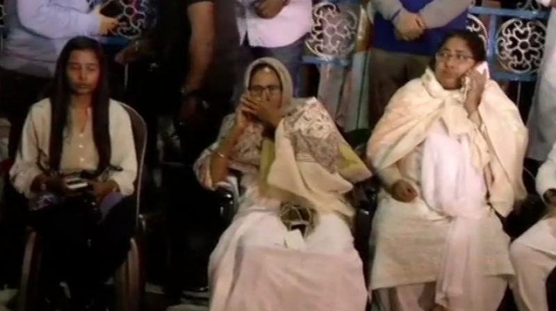 A furious Banerjee began a sit-in at the Metro channel in Esplanade area in the heart of the city to protest against 'insults' she faced at the hands of Prime Minister Narendra Modi and BJP chief Amit Shah. (Photo: File)