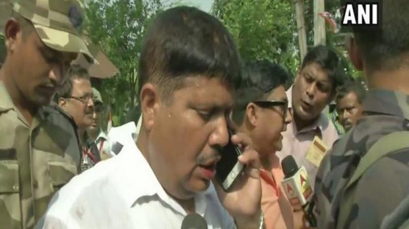 'I was attacked by TMC goons while I was trying to talk with voters,' Singh said. (Photo: ANI)