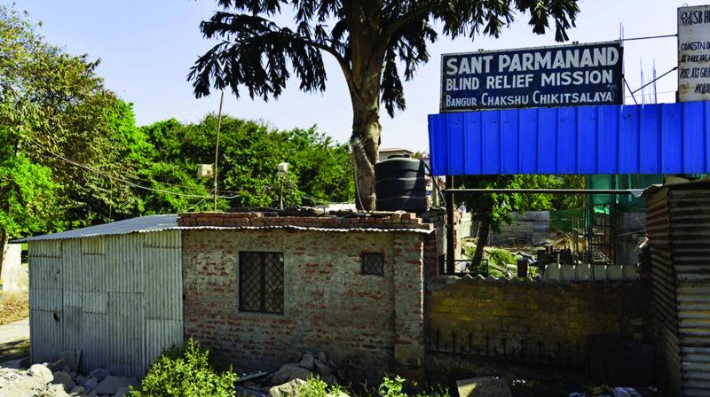 Sant Parmanand Blind Relief Mission Hospital in Yamuna Bazaar area