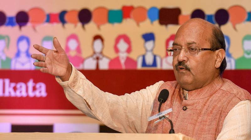 Rajya Sabha MP Amar Singh. (PTI)