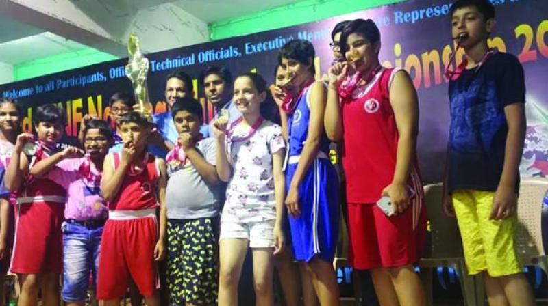 "I am a national level gold me-dallist in all three games,"" said Princess Khushi, a disciple of Pradeep Negi."