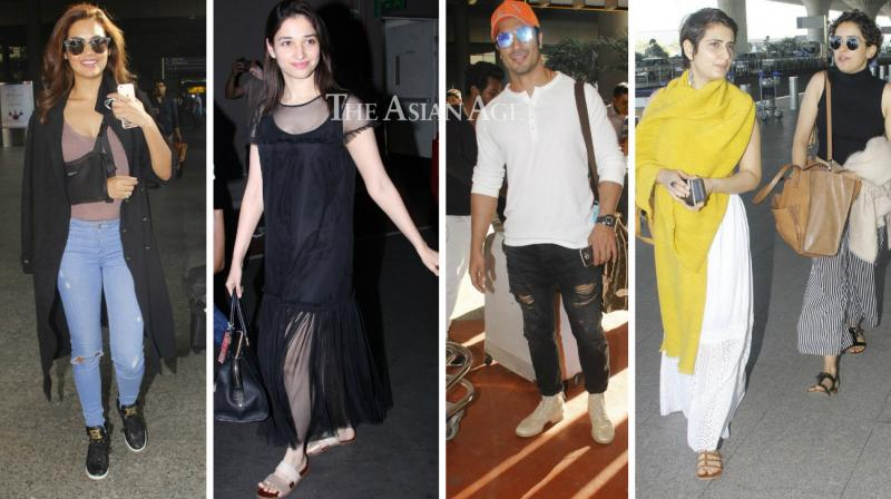 Several Bollywood celebrities were snapped at the Mumbai airport om Tuesday. (Photo: Viral Bhayani)