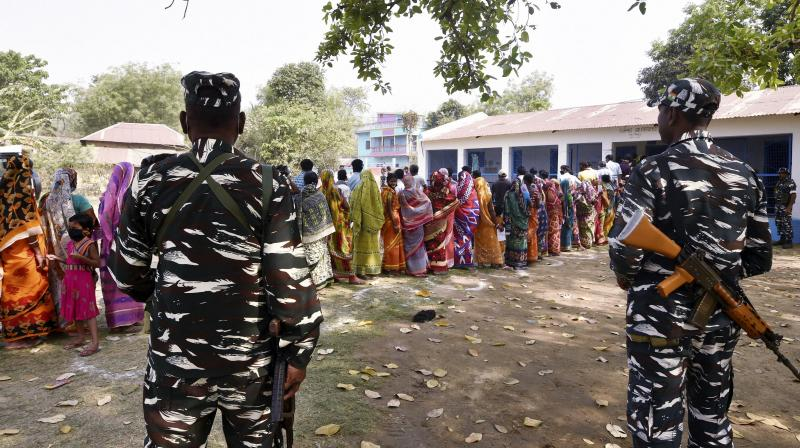 The CISF booth commander tried to pacify the miscreants but the mob entered the polling booth and beat up the other polling staff on duty.  —  PTI file photo
