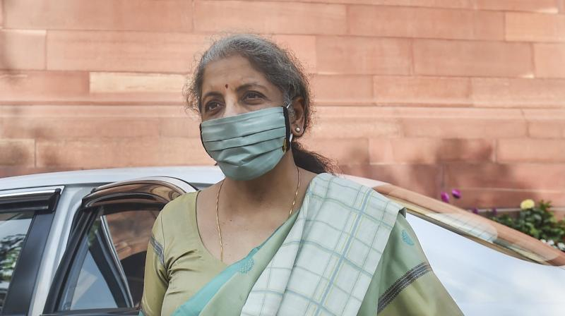 Finance Minister Nirmala Sitharaman during the ongoing Budget Session of Parliament, in New Delhi, Wednesday, February 03, 2021. (PTI /Manvender Vashist)