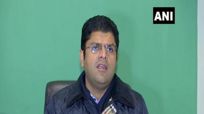 Haryana Deputy Chief Minister and Jannayak Janta Party (JJP) chief Dushyant Chautala on Thursday said the party has not yet received the resignation of MLA RK Gautam. (Photo: ANI)