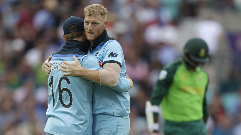 Stokes was one of four England batsmen who got to 50 on a tricky surface, with captain Eoin Morgan (57), Jason Roy (54) and Root (51) all out soon after reaching the landmark. (Photo: AP)