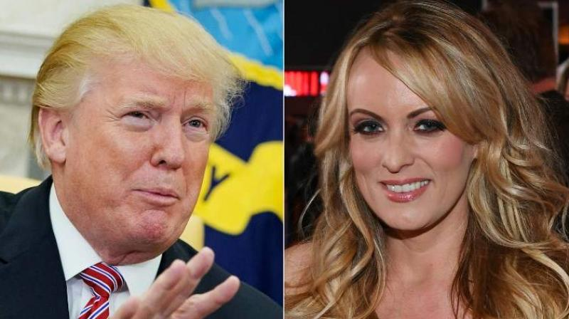 In a motion filed on Monday in Los Angeles federal court, Trump's lawyers also said that Daniels, who has said she had a sexual encounter with Trump in 2006 and was threatened to keep quiet about it. (Photo: AFP/File)