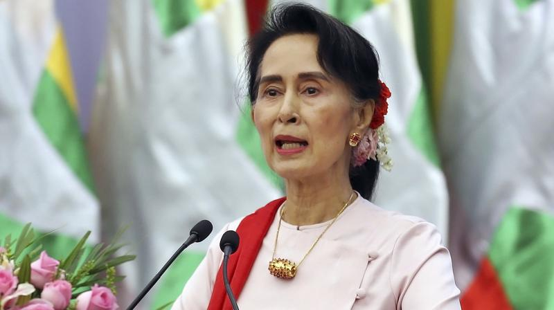A petrol bomb was thrown at the lakeside Yangon compound of Myanmar's leader Aung San Suu Kyi Thursday while she was away from her home. (Photo: File)