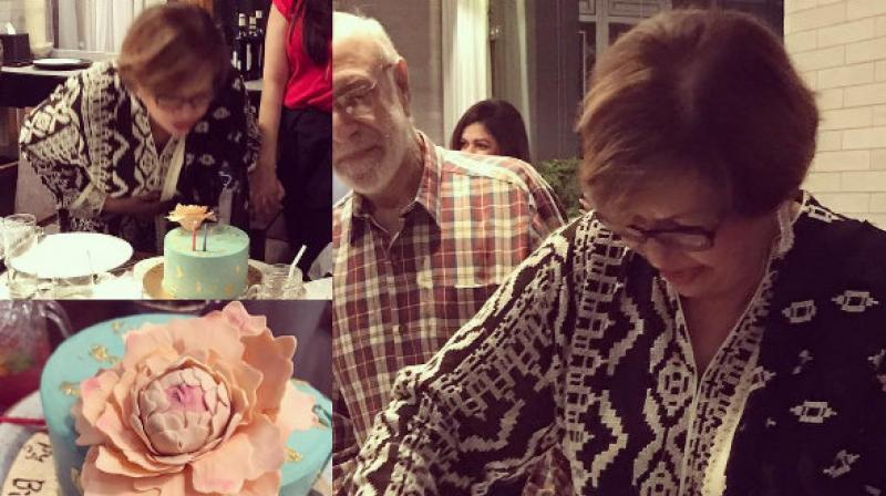 The actor's sister took to Instagram to share Helen's birthday picture with fans.