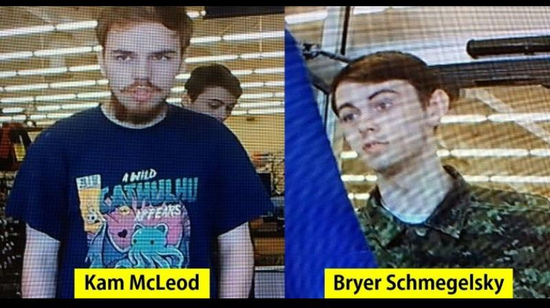 Kam McLeod, 19, and Bryer Schmegelsky, 18, were wanted over the murders of an Australian man and his American girlfriend, as well as of a Canadian university professor. (Photo: AFP)
