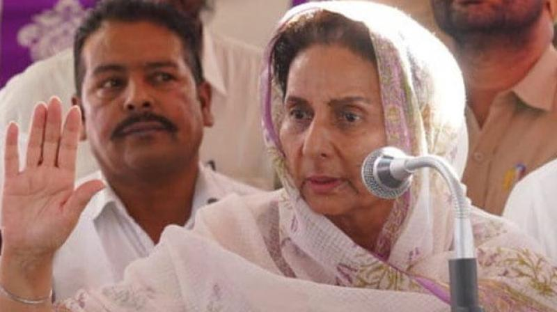 Punjab Chief Minister Amarinder Singh's wife Preneet Kaur fell prey to a cyber fraud, losing Rs 23 lakh to a scamster who duped her through a mobile phone call, posing as a bank manager, said police. (Photo: Twitter/ ANI)