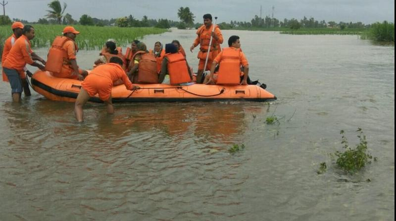 As Kerala continues to battle the torrential downpour lashing its shores, death toll has risen to 42 in rain related incidents, including flooding and landslides, with over one lakh people moved to relief camps, officials said on Saturday. (Photo: File)