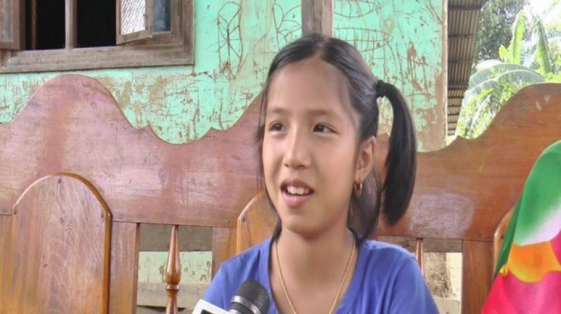 Valentina Elangbam, a 9-year-old from Hiyanglam Makha Leikai in Kakching district has been made the ambassador of
