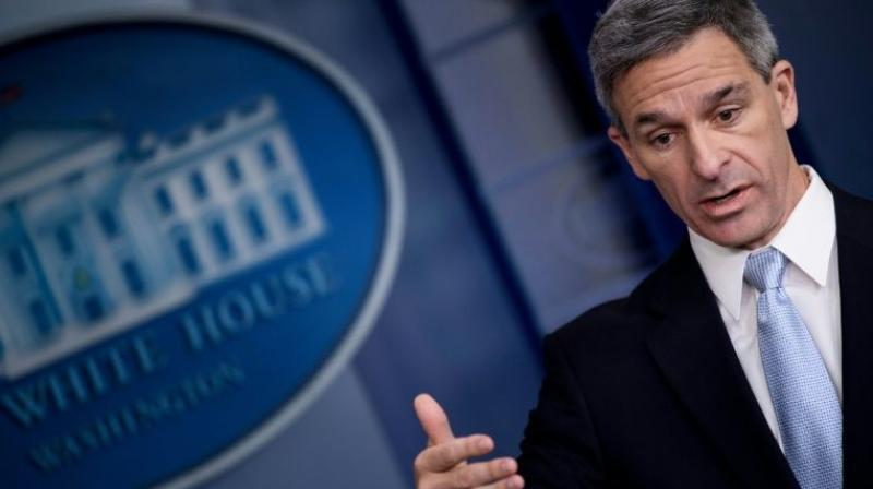 Ken Cuccinelli, acting Director of US Citizenship and Immigration Services. (Photo: AFP)