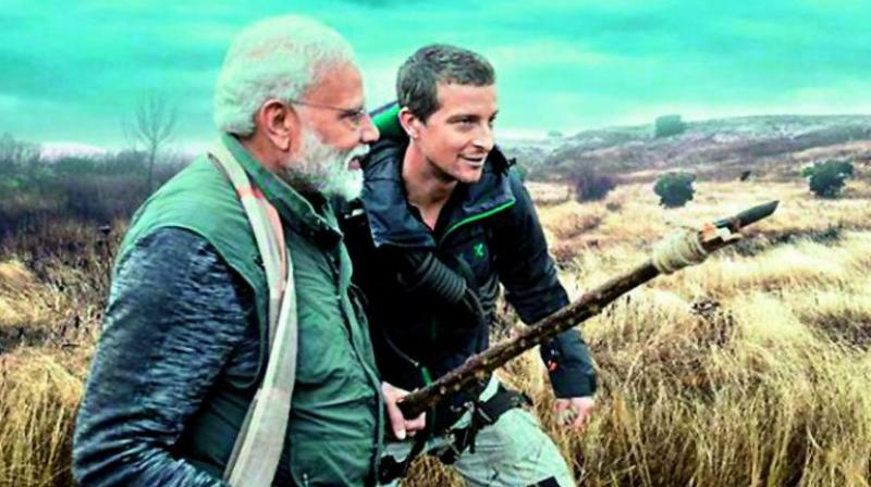 How did Bear Grylls converse with Prime Minister Narendra Modi in the special episode of 'Man Vs Wild' when the famed adventurer and survivalist does not understand Hindi? -- This was the question several people have been pondering about after watching the show. (Photo: File)